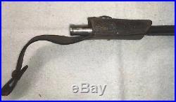 Antique Vintage WW2 German Police Leather Dress Scabbard 14.5Long Bayonet Knife