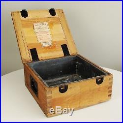 Antique Vtg World War 2 WW II German Ammunition Ammo Crate Case Box Artillery