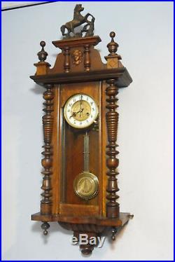 Antique Wall Clock German Wall Clock Regulator Vintage Clock Mahogany wood