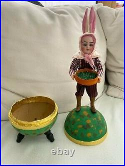 Antique candy container rabbit man