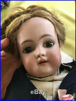 Antique doll German Handwerck porcelain bisque socket-head, jointed body