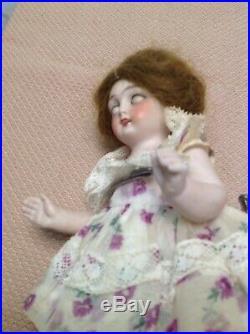 Antique doll all bisque sleep eyes 6 2 1/2