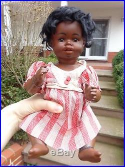 Antique doll black doll brown bisque