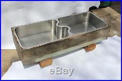 Antique kitchen butler pantry german silver sink elkay mfg monel s divider vtg