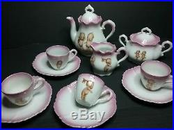 Antique/vintage German Rose O'Neill Wilson Kewpie child's Tea Set