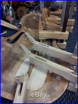 Antique vintage mid 1800s (1840s) German factory cello, Bam case