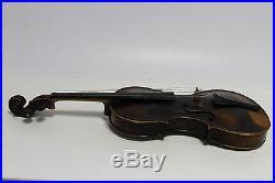 Antique vintage old German violin JACOBUS STAINER in wooden case-1780year