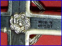 Antique vtg Christian Cross Crossbones Skull Antique Made in GERMANY German
