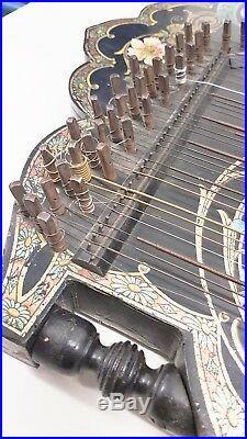 Antique zither citer Canon kanon-kanun Antique Vintage German
