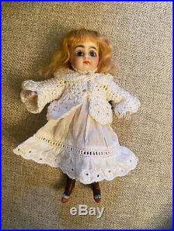 As Is All Bisque French Market Rare 6 Antique Doll Fancy Shoes Antique Dress