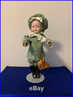 Bahr Proschild Kley & Hahn 584-10 German Art Character Doll Original Painted 21