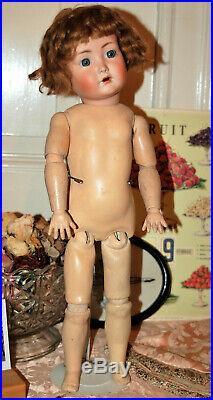 Beautiful 20 K&R Simon Halbig 117n flirty eyes bisque head doll 1910