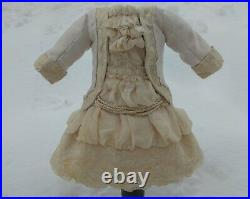 Beautiful Bebe doll dress and hat, German/French antique doll