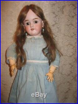 Big Beautiful 29 Bisque Head Doll Handwerck Halbig 99 Dep Marked Compo Body