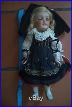 Bleuette unis France sfbj vintage german antique french doll jumeau bisque