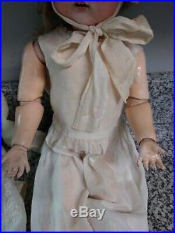 C1900 Kammer Reinhardt 23 Bisque Head Doll Original 192 Pierced Ears Nice