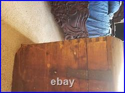 C. 1725 Antique GERMAN Colonial Immigrant Chest Dome Top Trunk Or Blanket Chest