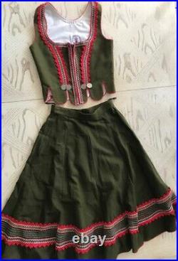 Dirndl Strasse Trachten Oktoberfest Two Piece Authentic Vintage German Costume