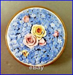 ELFINWARE BOX Ormolu German DRESSER JAR Antique Porcelain VANITY Germany Vintage