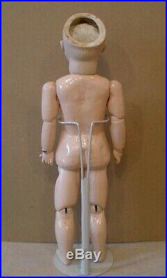 Early 18 antique pouty Kestner doll, closed mouth, French body