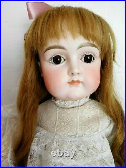 Early Antique 27 Kestner Closed Mouth Bisque Child withSquare Cheeks