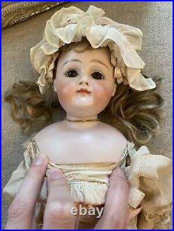 Early Antique German Bisque 18 Closed Mouth Kestner Doll Marked 8 Orig Clothes