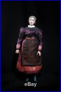 (Early German Wood/Biedermeier Era Doll)