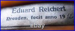 FINE OLD GERMAN MASTER VIOLIN E. REICHERT 1912 video ANTIQUE 119