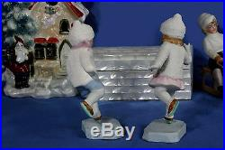 Galluba Era Hertwig Bisque Ice Skaters Snow Baby Figurines Book Examples V Rare