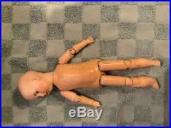 Gerbrunder Haubach #48 Antique German Bisque Boy Doll, 11 Composition Body