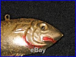 German Antique Glass Figural Fish Vintage Christmas Ornament Decoration 1920's