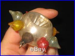 German Antique Glass Star Double Indent Vintage Figural Christmas Ornament 1930s