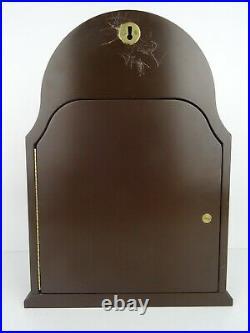 German Antique Vintage Bracket Wall Clock Nutwood 8 day HUNTING (Junghans era)