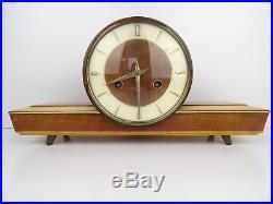 German HERMLE Vintage Clock Antique 8 day Mantel Shelf Retro (Kienzle Junghans)