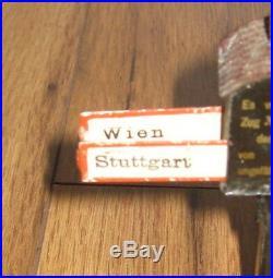 German Marklin Train Destination Sign Great Cities Vintage Antique Tin Richtung