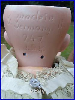 German antique doll Kestner baby doll sweet Hilda JDK with beautiful dress