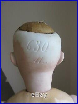 German doll mold 630.18 1/2. Closed mouth. 1880's. Alt Beck & Gottschalck 47 cm