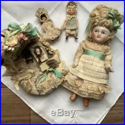 Germany antique bisque doll Minyonetto set