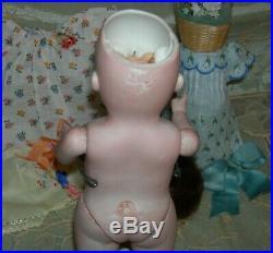 Giant 10 All Bisque Kestner 208 9 Prize Baby Label Red Stamp Extras