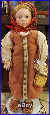 Gorgeous C1909 14 Factory Original Antique German Munich Art Doll