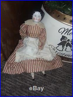 Gorgeous! ViNTaGE ANTIQUE GERMAN 17 INCH CHINA HEAD DOLL