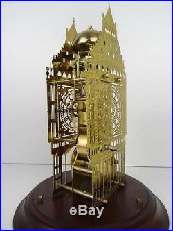 HERMLE Vintage Antique Big Ben Skeleton Domed Glass German Clock (Junghans era)