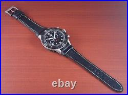HEUER 1960s Type1550 SG SS 43mm Cal. Valjoux230 West German Air Force Black Dial