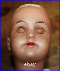 Henrich & Simon & Halbig 19 Doll Withsleep eyes. Cafe auLite/Mocha/Brn/Black AS IS