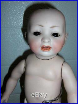 Hertel & Schwab Antique Hertel & Schwab #152 2 German Character Bisque Doll