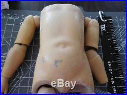 Heubach 250.5 German Antique Doll Head & Body, Fully Articulated, Body Work