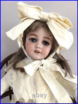 Huge 38 Antique German Simon Halbig Santa 1249 Dep Bisque Head Doll