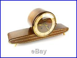 JUNGHANS chiming mid century antique mantel clock art deco german vintage speake