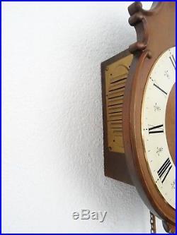Junghans Vintage Antique German Wall Clock 8 day (Kienzle Mauthe Hermle era)