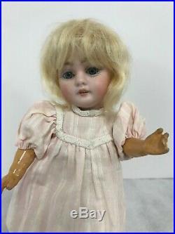 Kestner 143 Child Doll 8 original Body, Wig and Blue Sleep Eyes